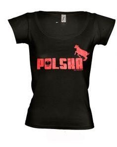 Marek Fis T-Shirt POLSKA schwarz f. Frauen