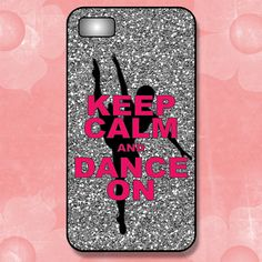 Keep Calm and Dance On iPhone 4/4s Case or iPhone 5 Case - NOT REAL GLITTER - iPhone Case Plastic or Rubber Case