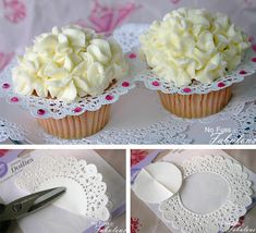 Cupcake decor. Easy and very romantic