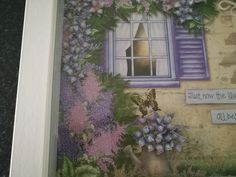 Lush Lilac picture frame close up flowers