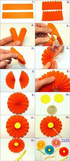 Papír virág harmonika hajtogatással - Manó kuckó Plastic Cutting Board, Diy, Google, Bricolage, Diys, Handyman Projects, Do It Yourself, Crafting