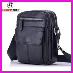 dbfc35de0d6b FEIDIKA BOLO Genuine Leather Bag Men Messenger Bags Men s Crossbody Bag  Small sacoche homme Satchel Man