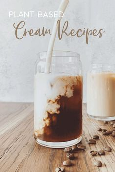 Cream is not only a great addition to a morning coffee, but it serves so many purposes in desserts, soups, sauces, and other recipes with creamy textures. Here's how to make it dairy-free! Other Recipes, Whole Food Recipes, Diet Recipes, Vegan Recipes, Hemp Recipe, Cashew Cream, Cream Recipes, Plant Based Diet, Vegan Life