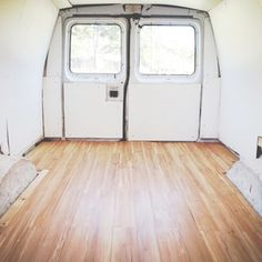 How to Install Click Flooring in a Van - I've been thinking about flooring options for a van, and although I like the idea of the click laminate, I also think you could successfully use the glue-down sheet version of Marmoleum, which comes in a hundred thousand colors, is super lightweight, and is anti-bacterial naturally.