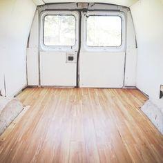 installing click flooring in a van