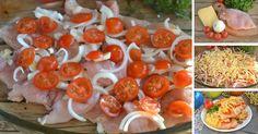 Na prípravu tohto skvelého jedla si vystačíte len so 4 prísadami a zaberie vám len 5 minút. Vyskúšajte lahodné kuracie rezne zapečené so syrom, cibuľkou a cherry paradajkami.