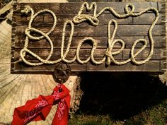 Hey, I found this really awesome Etsy listing at https://www.etsy.com/listing/200588402/blake-32-western-rope-name-sign-cowboy
