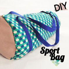 DIY : « Mon Sport Bag par Romain d'Arrow Workshop Diy Couture, Couture Sewing, Fashion Fabric, Diy Fashion, Diy Sac, Diy Bags Purses, Yoga Mat Bag, Sewing Lessons, Creation Couture