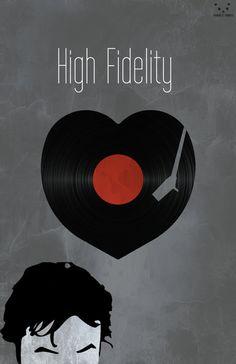 "High Fidelity Minimalist Poster [11""x17""]"