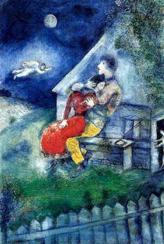 """""""Закат — и мое тело в ночь вступает. Любовь, цветы с картин моих зовут меня вперед и сзади окликают."""" Марк Шагал."""