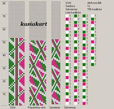 12 around tubular bead crochet rope pattern Bead Crochet Patterns, Bead Crochet Rope, Seed Bead Patterns, Peyote Patterns, Beading Patterns, Beaded Crochet, Bead Loom Bracelets, Beaded Bracelet Patterns, Punto De Cruz