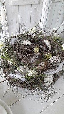 Schöner großer Tischkranz Kranz Frühlingsdeko kleines schwedenhaus shabby chic