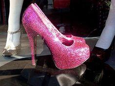 glittery heels!