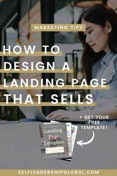 Landing Page Design Hacks That Convert Online Entrepreneur, Business Entrepreneur, Business Marketing, Online Marketing, Online Business, Business Website, Marketing Ideas, Successful Business Tips, Promotion