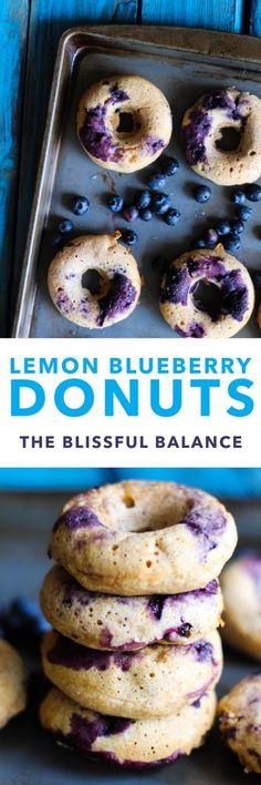 Blueberry Lemon Donuts | the blissful balance