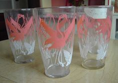 Vintage glassware-- I had one of these, I remember the moment my cat broke it sooo distinctly.
