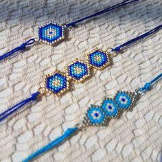 Zevkler renklerr.. #miyuki #boncuk #bileklik #yaz #mavi #turkuaz #renkli #renklen #hediye #hediyeetmutluet #elyapimi #handmade