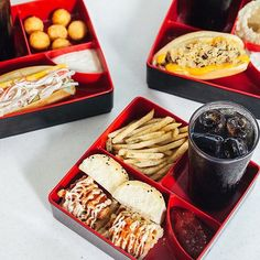 BENTO These Snack Bento Sandwiches have got our mouths watering! Choose from the Mini Karaage Burger, Cheesy Beef Sandwich, and Seafood Kani Roll variants (or get all three!).  Pairing them with potato balls, nori-wasabi fries, and onion rings makes this deal a real steal!