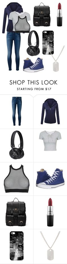 """""""Sasuke Uchiha"""" by tokyocity7 on Polyvore featuring 7 For All Mankind, Master & Dynamic, Topshop, Dsquared2, Converse, Sole Society, MAC Cosmetics, Casetify and Loren Stewart"""