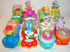 1992 Tiny Toons Wacky Rollers Happy Meal Toys R Us Kids 80s