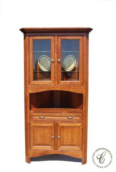Handmade Amish furniture is made of solid wood and lasts a lifetime. Design your Parron Mission Corner Hutch to become a treasured family heirloom.