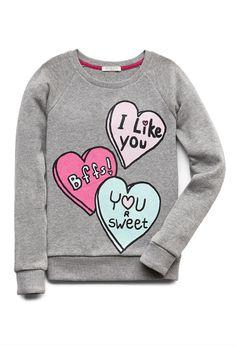 Sweetest Valentine Sweatshirt | FOREVER21 Tag your bestie! #SweatWeather #Juniors #Glitter
