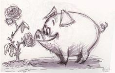 The Ol' Sketchbook: Pigs is Pigs
