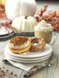 It's pumpkin season at Krispy Kreme! Pick-up a Pumpkin Spice Doughnut and try our new Pumpkin Cheesecake Doughnut.