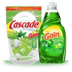 Cascade Gain Dish Detergent