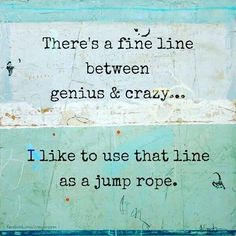 Today I have been jump roping like #crazy. Or jump roping like a #genius. Either way, #2016 I hope is a calming and creative time to rest my soul