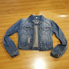 SALE! American Eagle Outfitters jean jacket XS Cute distressed jean jacket size XS. In excellent condition. Measurements armpit to armpit is 16 inches and length is about 16.5. American Eagle Outfitters Jackets & Coats Jean Jackets