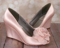 Blush zapatos de boda boda Blush tacones novia Blush