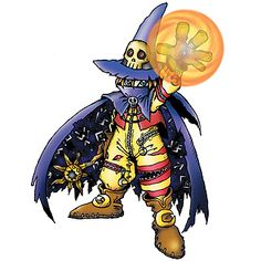 Wizardmon - Champion level. Saddest death in Digimon.. It still makes me cry just thinking about it!