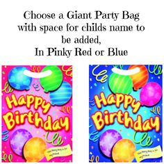 Just let me know how many of each colour you would like www.facebook.com/PerfectPartyBags