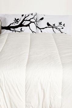 black & branch pillows
