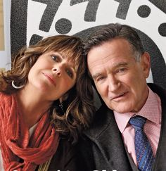 Pam Dawber and Robin Williams on The Crazy Ones, 2014