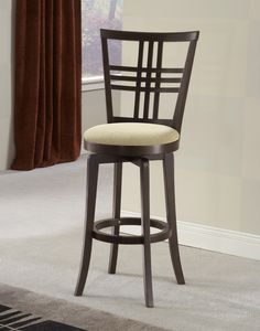 Barstools   Hillsdale Furniture Tiburon II Wood Swivel Stools In Counter Or  Bar Heights W/ Ivory Seat