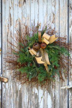 Christmas Wreath Twiggy Wreath Mixed Pine by sweetsomethingdesign