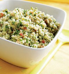 Recipes from The Nest - Minty Quinoa Tabbouleh Healthy Side Dishes, Side Dish Recipes, Healthy Snacks, Healthy Eating, Diet Recipes, Cooking Recipes, Healthy Recipes, Most Nutritious Foods, Savory Foods