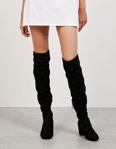 Mid heel tall boots - View All - Bershka Croatia
