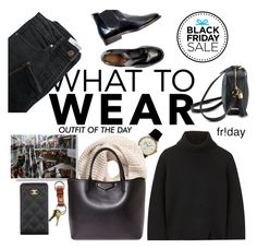"""""""What To Wear On Black Friday"""" by voguefashion101 ❤ liked on Polyvore featuring Proenza Schouler, Petit Bateau, MANGO, GiGi New York, H&M, Chanel, Givenchy, women's clothing, women's fashion and women"""