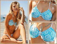 From hearts and kisses to tribals and tie-dyes, check out these flirty print bikinis in your favorite TeenyB styles. Brazilian Bikini, Push Up Bikini, Aztec, Amazing Women, Bikinis, Swimwear, Tie Dye, Teal, Pattern
