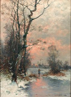 Winter  Artist; Gernot Rasenberger.  German 1940.