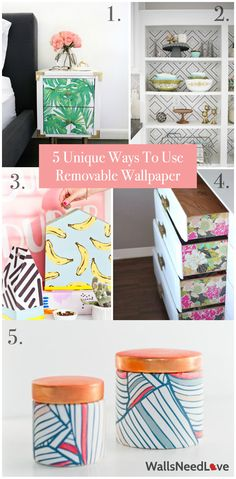 If you're like me, committing to one (potentially permanent) design decision can be daunting. With so many trends and choices, how can I choose just one? Enter removable wallpaper. Removable wallpaper is one of the easiest ways to update your space. And the best part is you don't have to only use it on walls. Here are some of our favorite ways to use removable wallpaper.