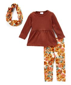 $13.49 Love this Fall Floral Pants Set - Infant & Toddler on #zulily! #zulilyfinds