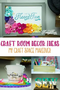 These Cute Craft Room Decor Ideas are sure to inspire what you can do in your space. Lots of beautiful photos and links to tutorials.