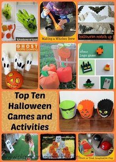 Top Ten Halloween Games and Activities for a Halloween party Halloween Decorations For Kids, Fun Party Games, Halloween Games For Kids, Easy Halloween Crafts, Halloween Party Decor, Halloween Fun, Party Ideas, Haloween Party, Kid Crafts