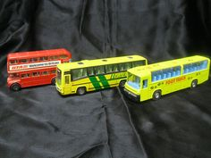 Corgi and Foot Track brand buses!  2 Corgi brand buses: a London Transport double decker Routemaster and Eastern National Highwayman bus. In Arc's Value Village online shop.