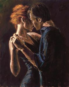 Fabian Perez. Sexy painter creates sexy paintings. I saw him when he was doing a show in New Orleans, 3 months before Hurricane Katrina hit. Gorgeous, the paintings were life size if I remember.