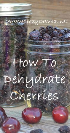 Never realized the foodsaver has a jar sealer, perfect for dehydrated food! Step by step directions on how to dehydrate cherries. Canning Food Preservation, Preserving Food, Canned Food Storage, Cherry Recipes, Dehydrated Food, Dehydrated Strawberries, Dehydrator Recipes, Canning Recipes, Canning Tips
